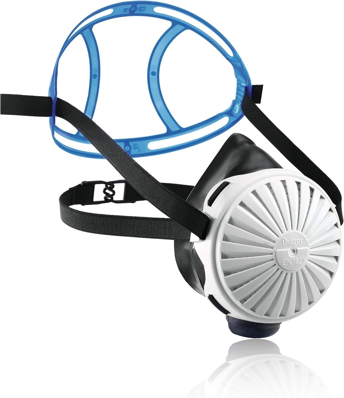 Dräger X-plore 2100® Semimáscara para protección respiratoria con 5 filtros P3, protección contra el Polvo, partículas Finas