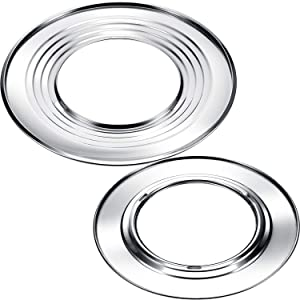 Boao 2 Pieces 11 Inch and 12 Inch Steam Ring, Stainless Steel Steaming Ring Adapter Fits 8 to 12 inches Stock Pots