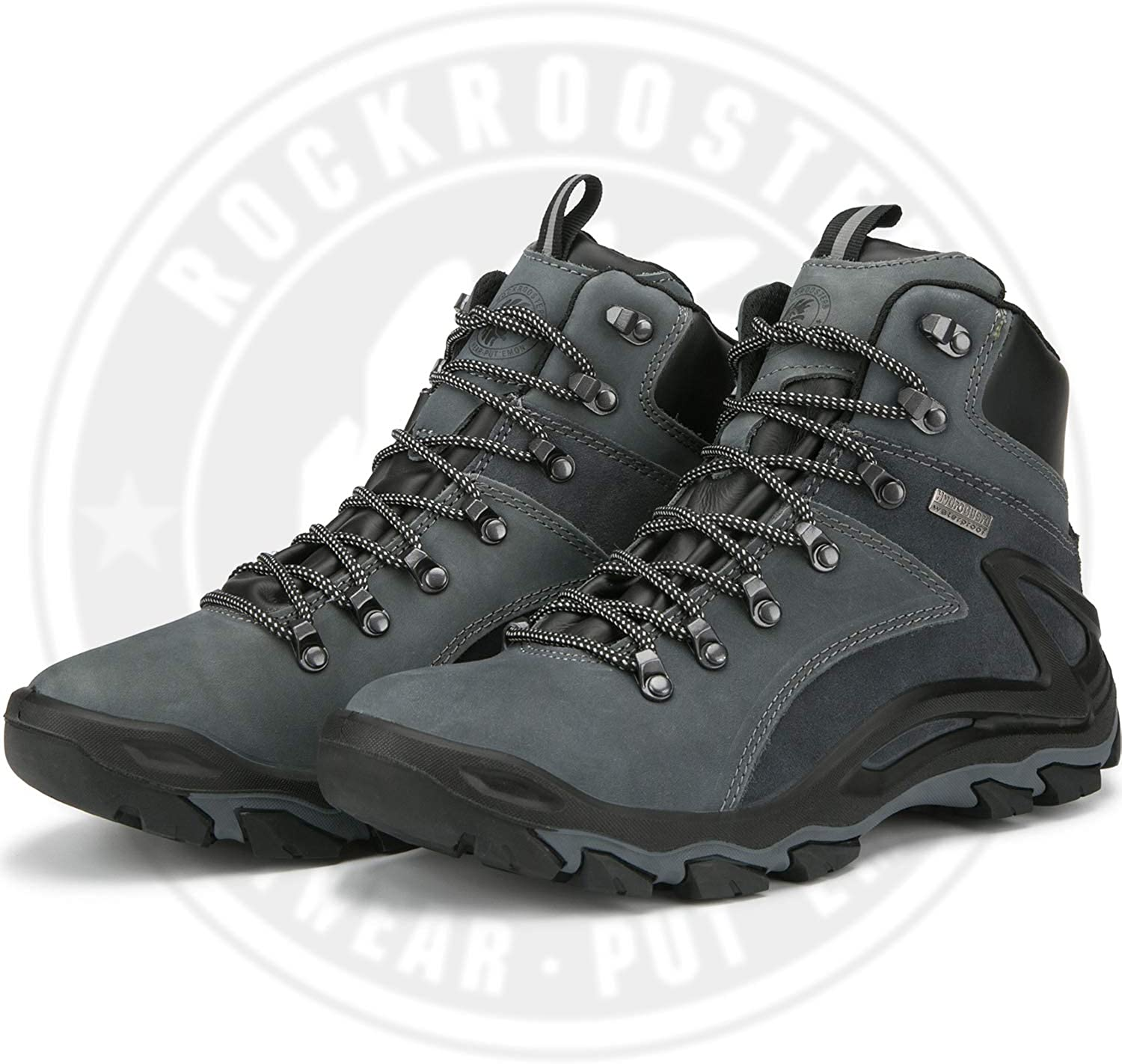 Lightweight Coolmax Anti-Fatigue,KS257 KS258 Ankle Waterproof 6 Non Slip Outdoor Mountaineeting Shoes ROCKROOSTER Mens Hiking Boots Breathable