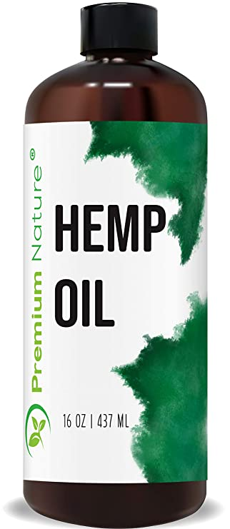 Amazon Com Organic Hemp Seed Carrier Oil Pure Unrefined Natural Massage Oil Cold Pressed Aromatherapy 16 Oz Beauty
