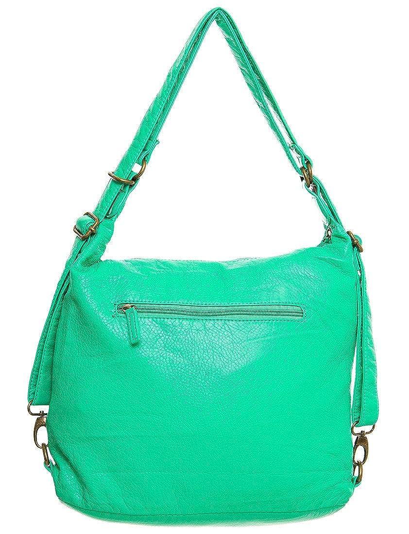 8ba2d9abbc Amazon.com  Vegan Leather Convertible Backpack   Crossbody Purse 3-way by  Ampere Creations (Aqua)  Shoes