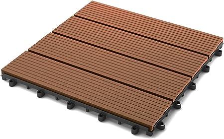 Terrazze piastrelle WPC clic Piastrelle balcone piastrella LEGNO PIASTRELLA plastica