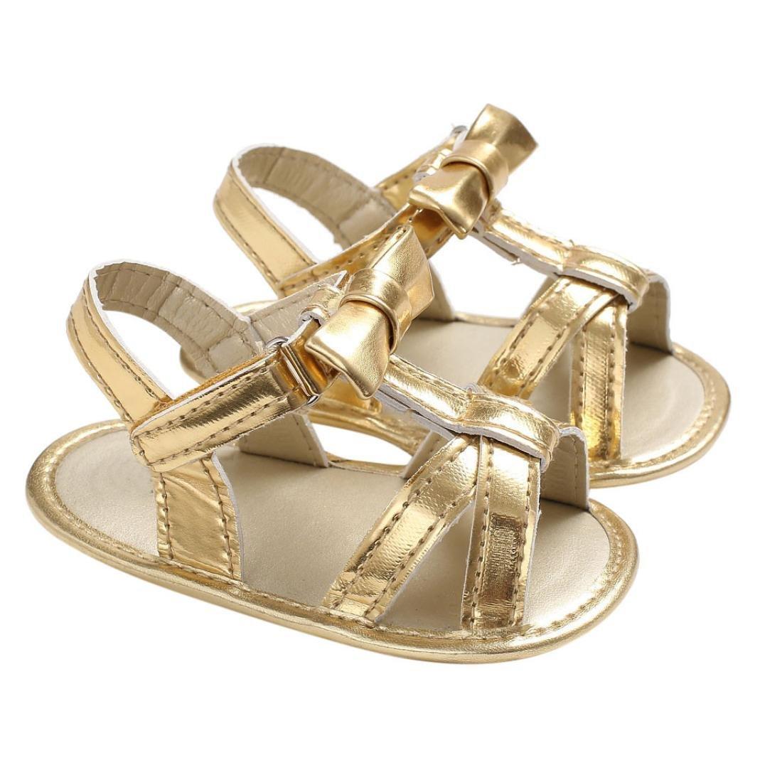 Mounter Chaussures de Filles, Bébé Sandales Nourrissons Enfant Berceau Enfant Arc de Couleur Pure Chaussures 0-18Mois
