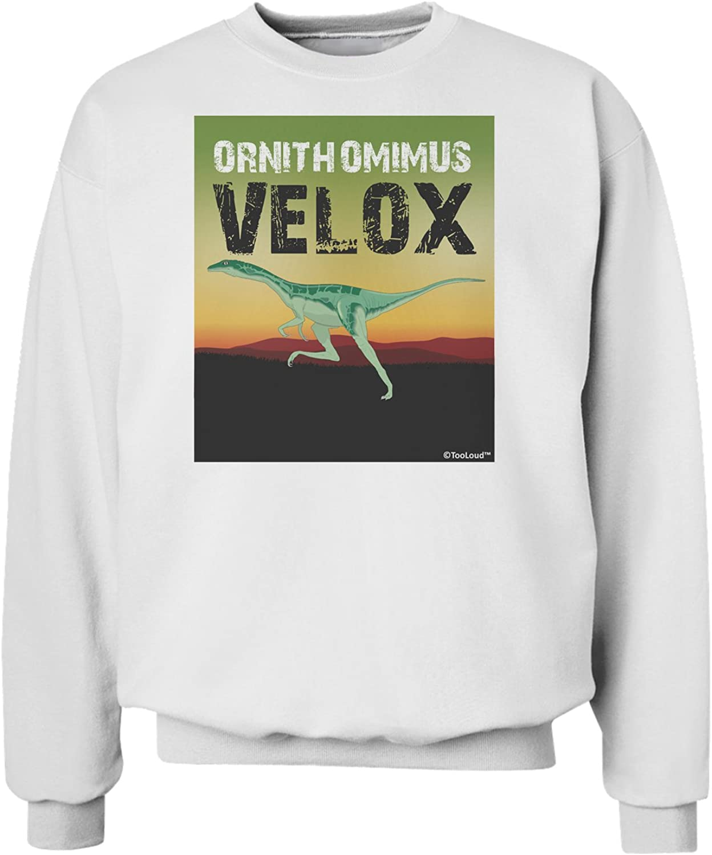 TOOLOUD Ornithomimus Velox with Name Sweatshirt