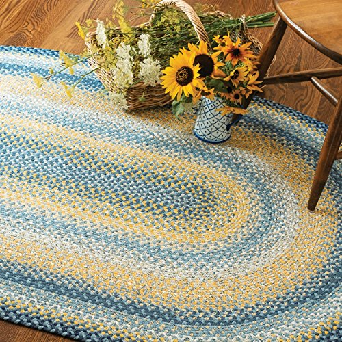 Sunflowers Braided Cotton - Rectangle Braided Rug 27
