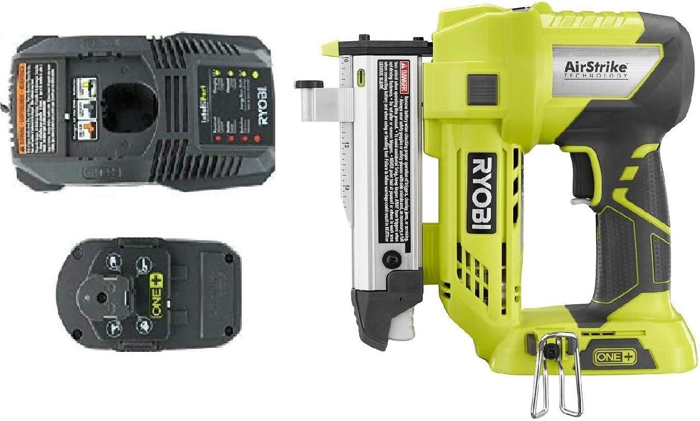 Ryobi One Plus 18 Volt Air Strike 23 Gauge 1-3 8 Cordless Headless Pin Nailer P318, Battery and Charger Combo Kit Bulk Packaged