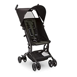 Jeep Clutch Plus Travel Stroller with Reclining Seat by Delta Children, Black/Olive Green