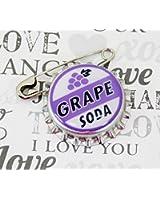 Ellie Badge Grape Soda Pin - LP - Personalized - Bottle Cap - Wedding Groom Gift