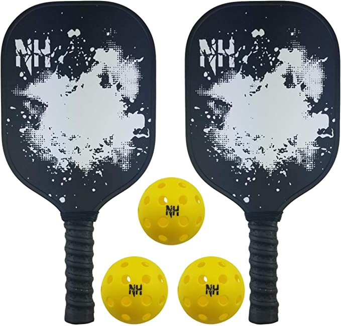 Graphite Pickleball Rackets Set Lightweight Hon Details about  /GRM Pickleball Paddles Set of 2
