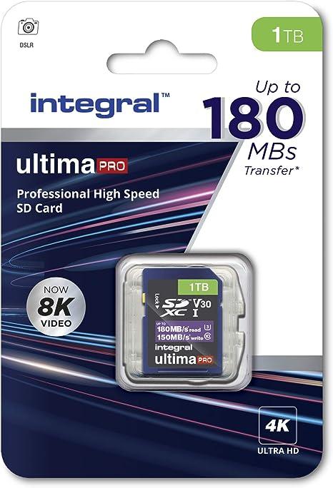 Integral 1tb Sd Karte 8k Und 4k Video Lesen 180 Mb Computer Zubehör