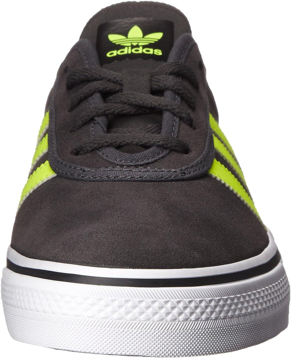 adidas Originals Men's Adi-Ease, Night Cargo/Core Black/Gum Dark Grey Heather Solid Grey Solar Yellow Black
