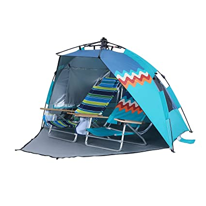 the best attitude 9591c 37c99 ALPHA CAMP Easy Setup Beach Tent Instant Sun Shelter-Extended Zippered  Porch Included