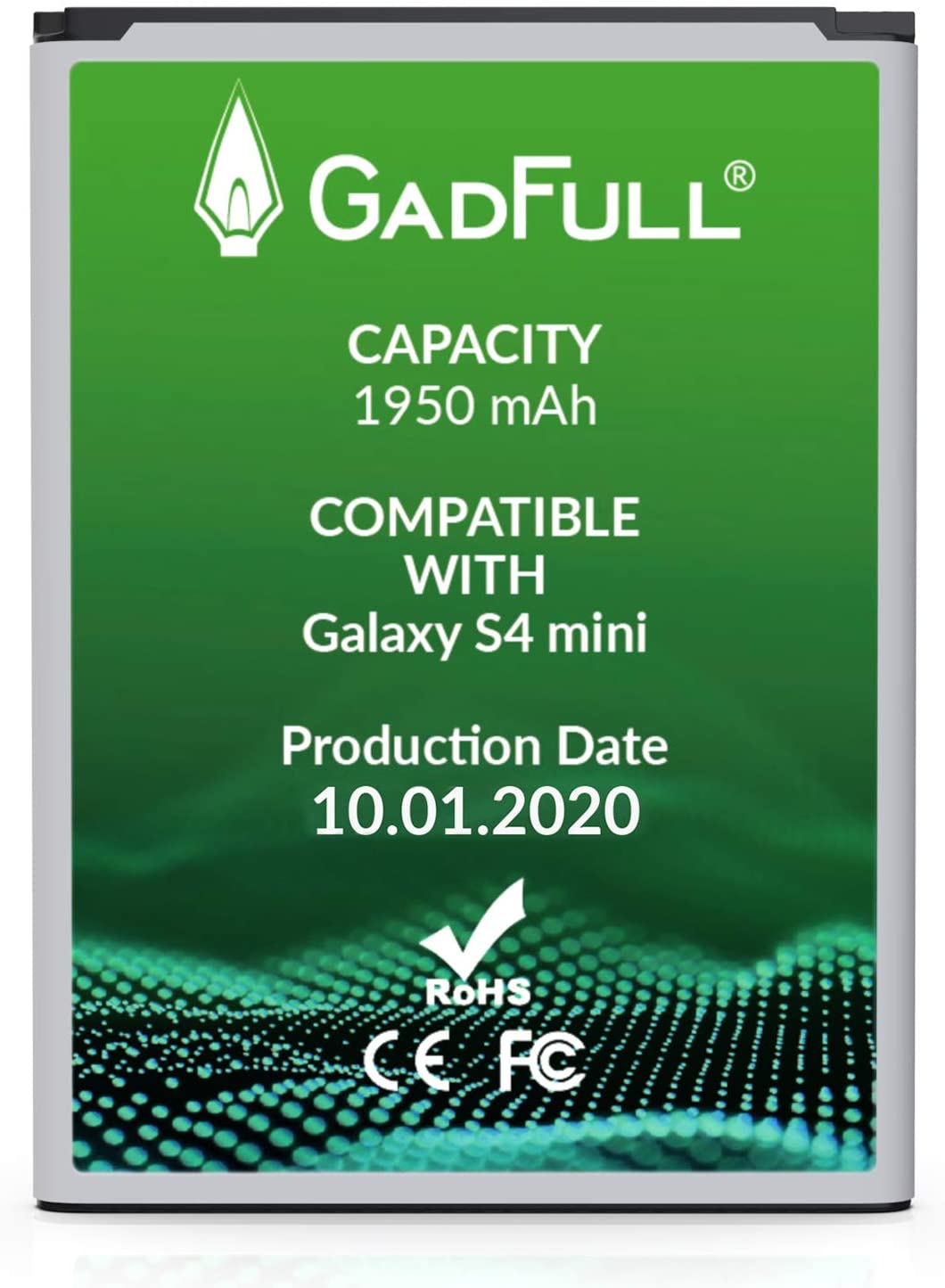 GadFull Batería de reemplazo para Samsung Galaxy S4 Mini   2020 Fecha de producción   Corresponde al Original B500BE   Compatible con S4 Mini i9190  S4 Mini Dual SIM i9192  S4 Mini LTE i9195