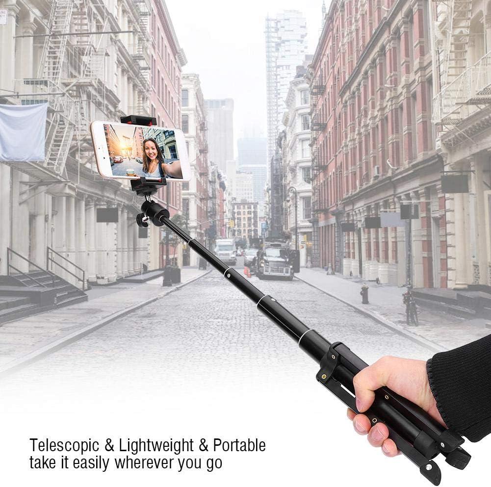 Acouto Portable Telescopic Aluminium Alloy Selfie Stick Tripod Bluetooth Contorller for Cellphone Camera