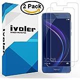 [2 Pack] Huawei Honor 8 Pellicola Protettiva, iVoler® 3D Copertura Completa [liquido Installazione] [Resistente ai graffi] [Anti-Bolla] HD Trasparente TPU Film Protezione dello schermo per Huawei Honor 8