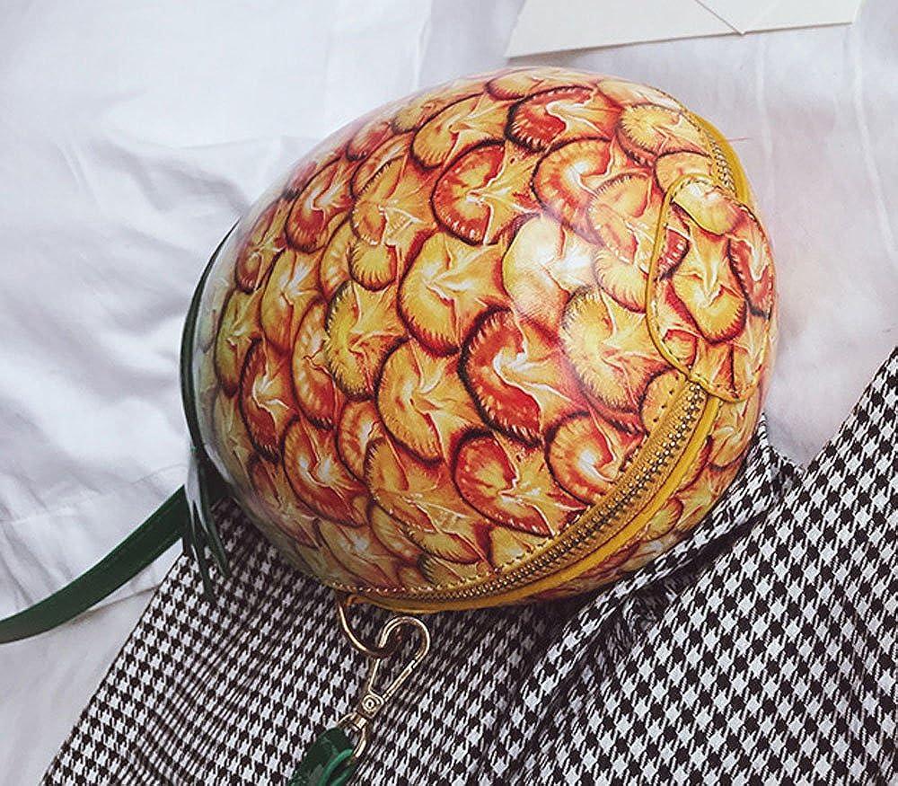 Fashion Pineapple Shape PU Leather Shoulder Bag Cross-Body Bag