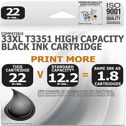 Cartucho de tinta, negro, de alta capacidad, compatibles con Epson ...