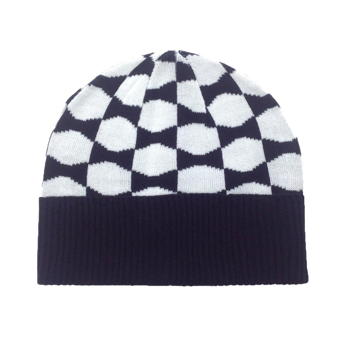 Kate Spade Women's Signature Bow Knit Beanie Hat, Black / Cream