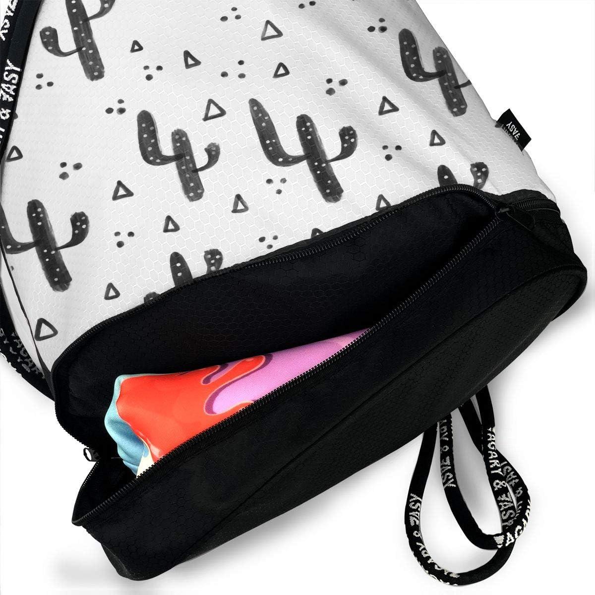 Drawstring Backpack Cactus Cacti Shoulder Bags