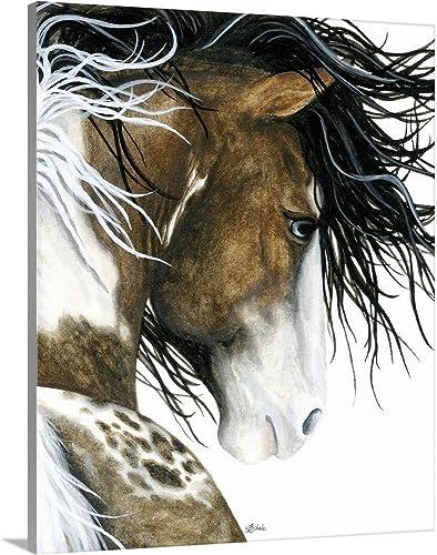 Majestic Pintaloosa Horse Canvas Wall Art Print