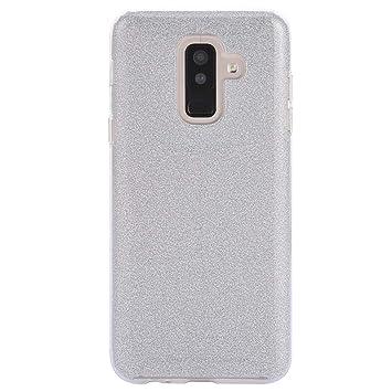 Coovertify Funda Purpurina Brillante Plateada Samsung A6 Plus, Carcasa Resistente de Gel Silicona con Brillo Gris Plata para Samsung Galaxy A6 Plus ...