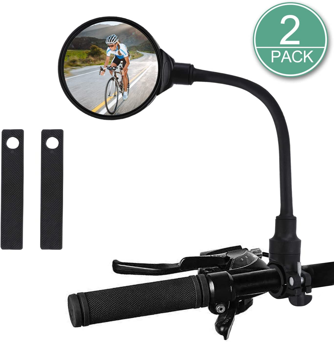 Safety Hafny Bicycle Rearview Mirrors 360° Rotatable Mirror Handlebar Cycling