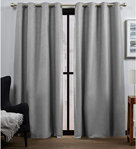 Exclusive Home Curtains Bensen Blackout Grommet Top Curtain Panel Pair