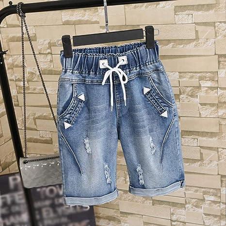 Lmshmdk Pantalones Cortos Mujer Light Blue Denim De Cintura Alta Para Vaqueros Tallas Grandes Vintage Holes Estudiantes Mujeres Shorts Verano Primavera Ropa De Colegio Azul Claro 26 Amazon Es Deportes Y Aire Libre