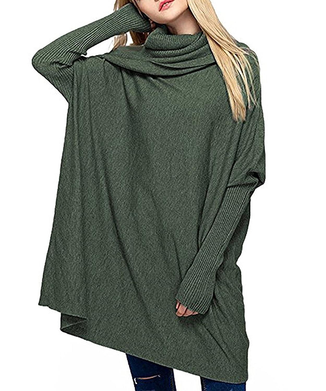 Barbella Women's Oversized Sweaters Long Sleeve Baggy Turtleneck Pullover Sweater