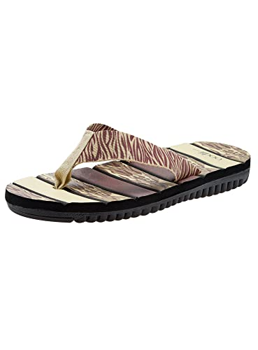 Oodji Ultra Hombre Zapatillas Estampadas de Algodón, Negro, 42 EU/8 UK