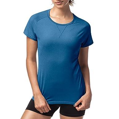 LAPASA T-Shirt Sport Femme Manches Courtes - Running Fitness Anti-Odeur  Antibactérien Ultra ce8ecfe6e74