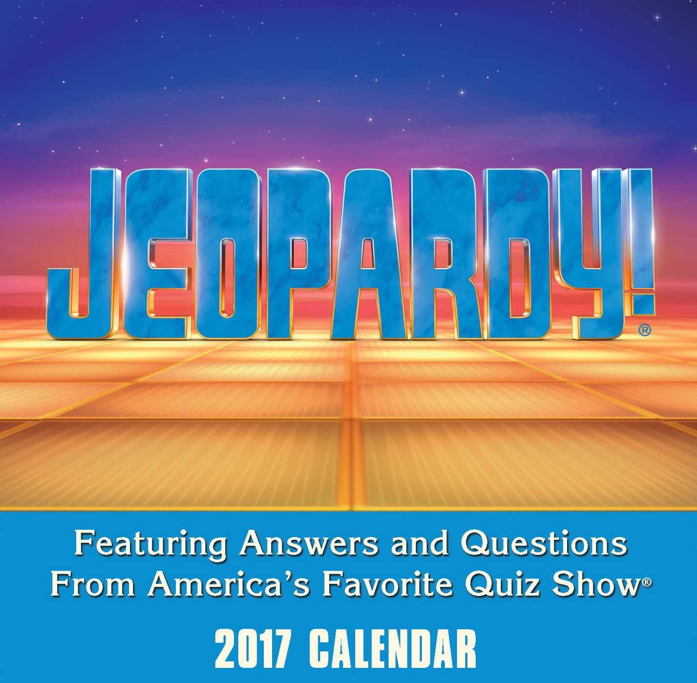 Jeopardy 2017 Day Day Calendar product image