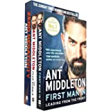 Ant Middleton Collection 3 Books Set (Zero Negativity, The Fear Bubble, First Man In Leading from the Front)