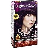 Eugène Color - Color & Eclat - Coloration Permanente Brillance Longue Durée à l'Huile d'Argan - Nuance Violine 46