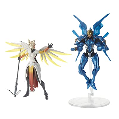 Hasbro Overwatch Ultimates Series Pharah and Mercy Dual Pack 6-Inch-Scale Collectible Action Figures with Accessories – Blizzard Video Game Characters: Toys & Games