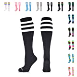 Amazon Com 5 Pairs Compression Socks 20 30mmhg For Men Women Compression Stockings For Running Athletic Travel Edema Nurses L Xl Clothing
