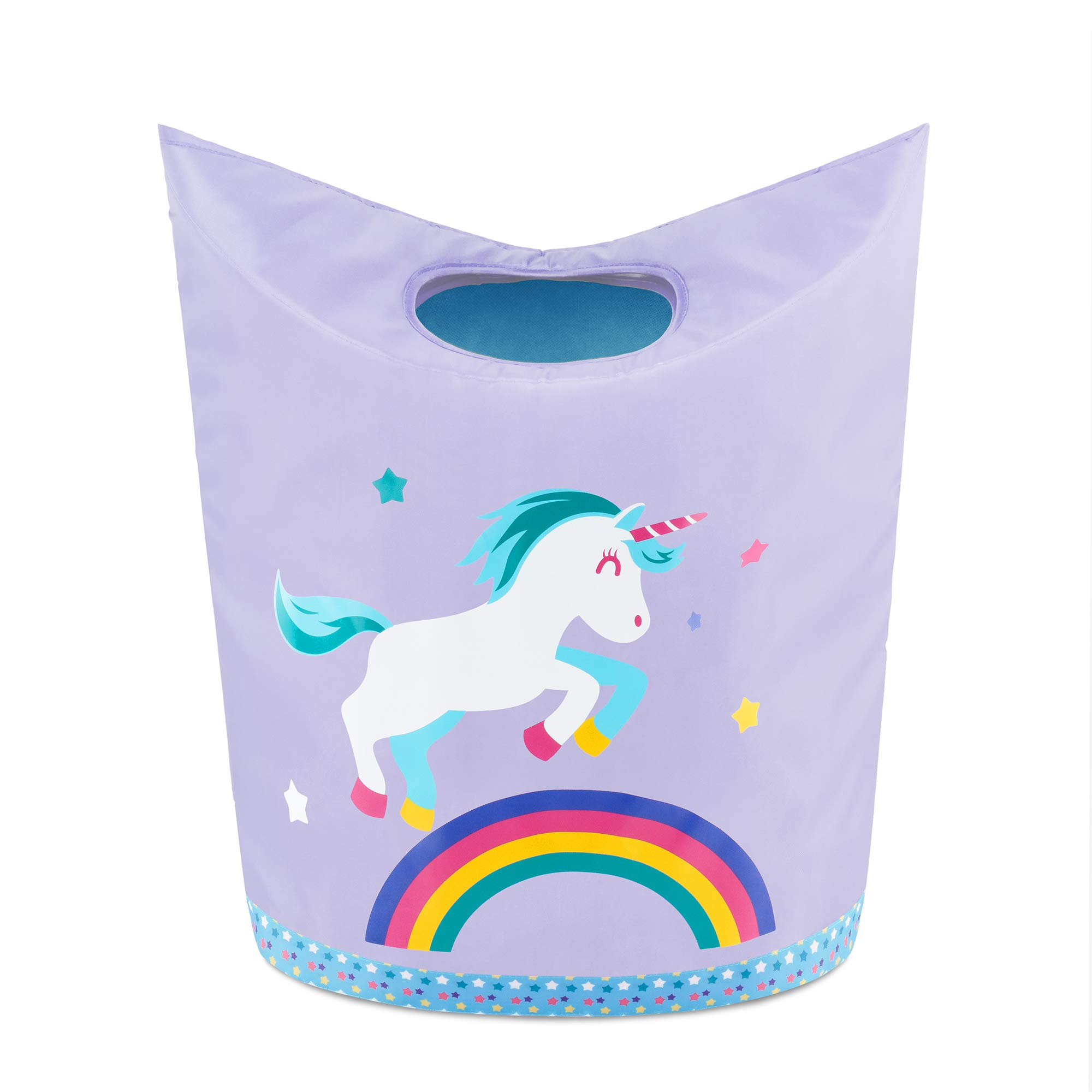 KMD Kids Laundry Hamper, Collapsible Dirty Clothes Basket, Pop Up Bin for Baby, Nursery, Boys and Girls Bedroom Decor (Unicorn) by KMD Kids
