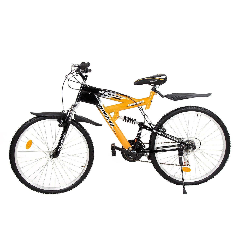 ac25ad0b3d3 Hercules Roadeo Turner VX 26T 18 Speed Mountain Bike (Yellow/Black):  Amazon.in: Sports, Fitness & Outdoors