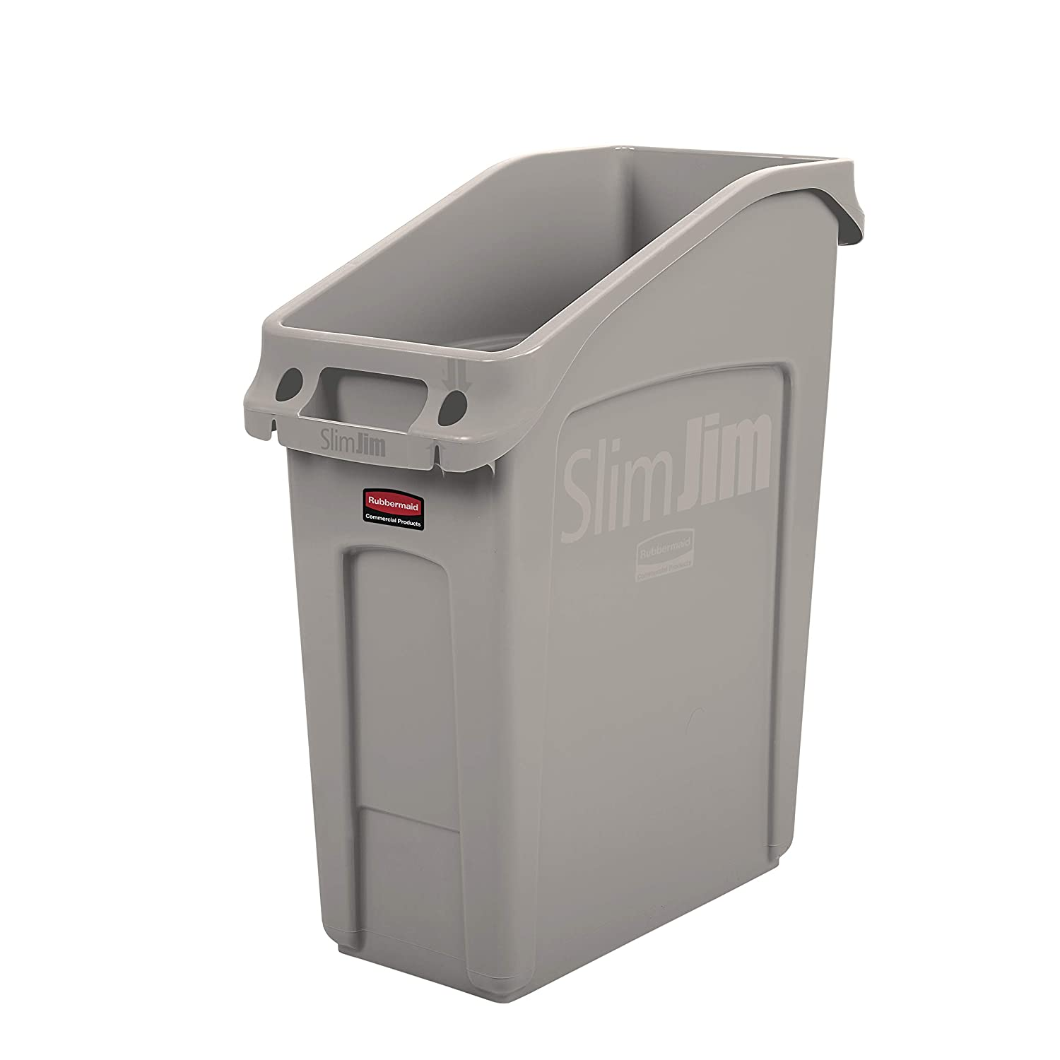 Rubbermaid Commercial Products 2026698 Slim Jim Under Counter Trash Can  With Venting Channels, 13 Gallon, Beige (Pack Of 4): Amazon.com: Industrial  U0026 ...