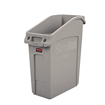 Rubbermaid Commercial Products 2026698 Slim Jim Under Counter Trash