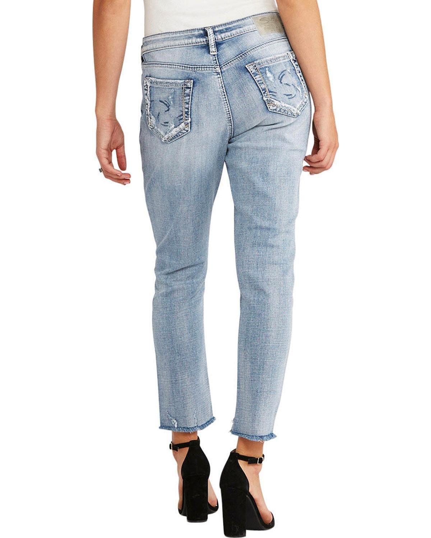 Silver Jeans Co. Loose Boyfriend Fit Step Hem Jeans 29