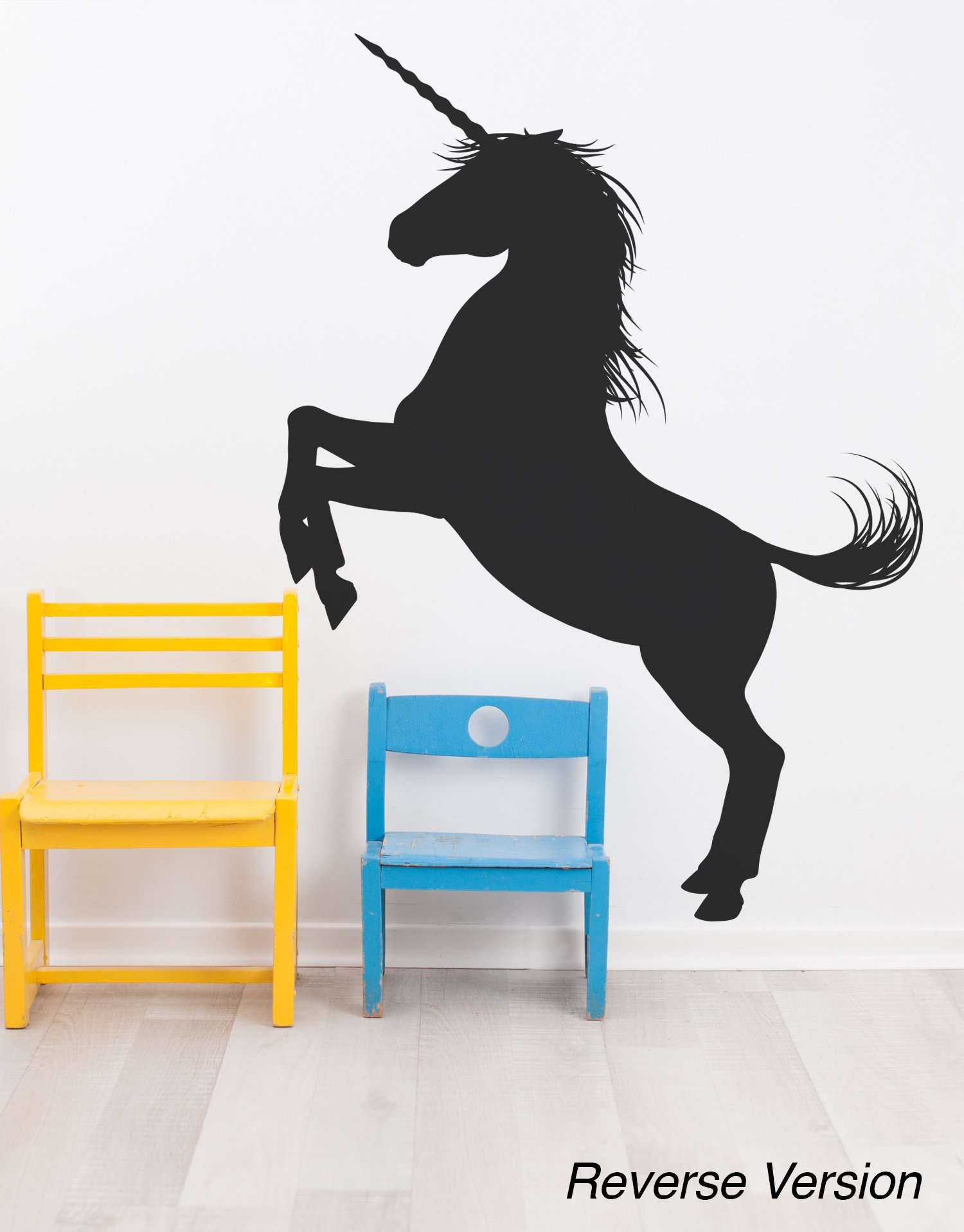 Unicorn Wall Decal Sticker. Black Color, Large 45in Tall X 33in Wide. Fantasy Silhouette Design for Girl's Bedroom Decor… 4