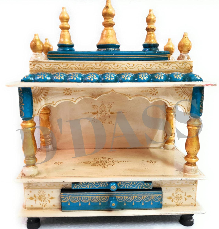 indian temple designs for home. Buy D Dass Wooden Vintage Home Temple for home Rajasthani vintage  Pooja Mandir Mandap Indian ethnic style pooja
