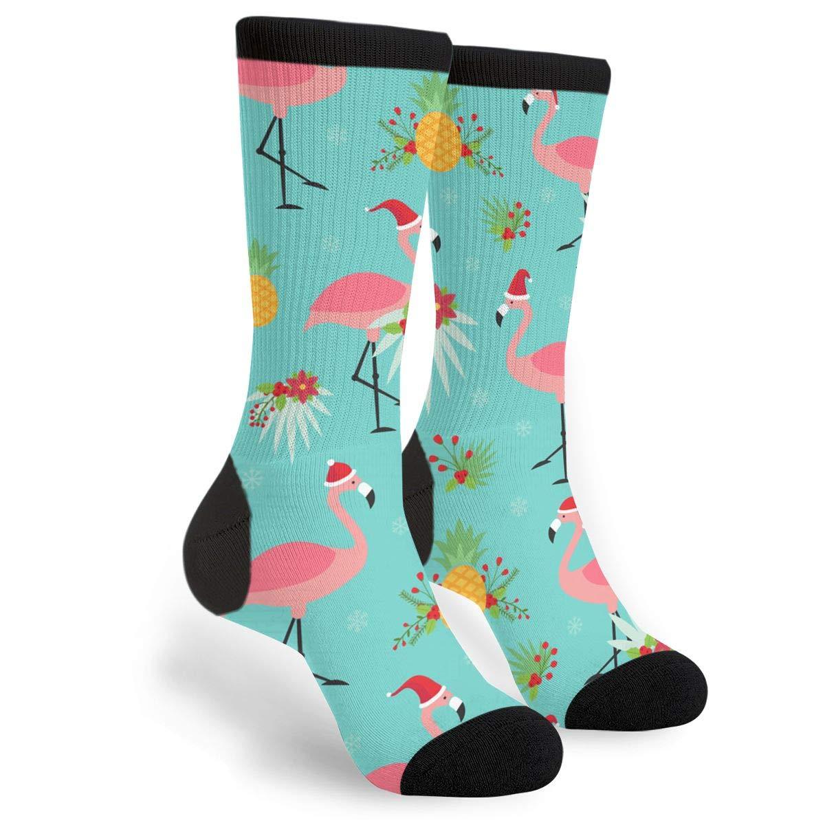 Gifts Tropical Christmas Flamingo Santas Novelty Socks For Women /& Men One Size