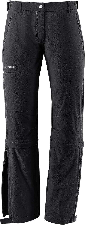 taglia produttore: 38 Nero Black Donna VAUDE Farley Stretch Capri T-Zip II Pantaloni