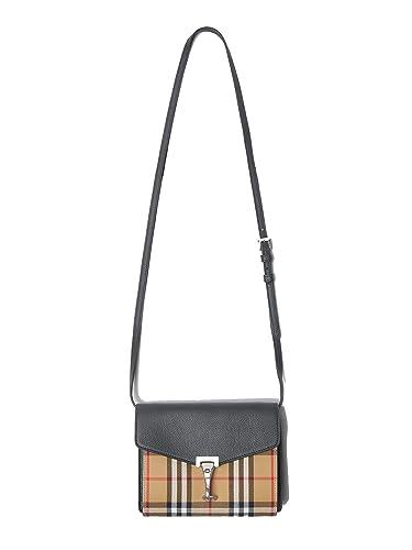 2b21f3ecaed BING-Burberry Mini Leather and Vintage Check Crossbody Bag (black ...