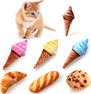 Woiworco 7 Pieces Catnip Toys, Interactive Cat Toys for Indoor Cats