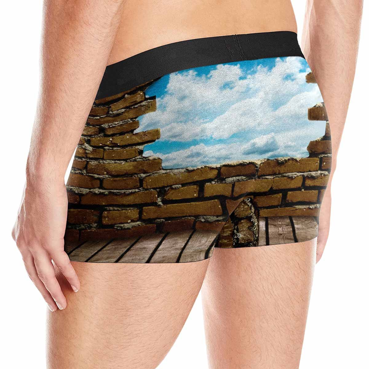 XS-3XL INTERESTPRINT Mens Boxer Briefs Underwear Porous Wall to See The Blue Sky
