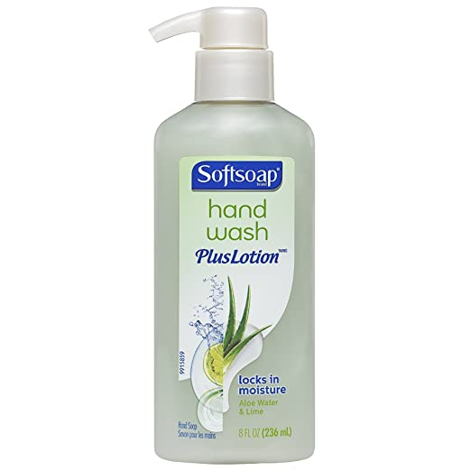 Softsoap Hand Wash Plus Lotion Pump, Aloe Water and Lime - 8 fluid ounce
