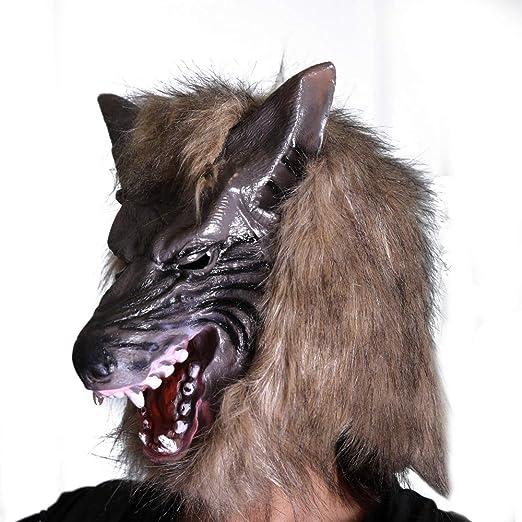 JIEPAI La Cabeza del Lobo De La Cabeza del Traje del Diablo del ...